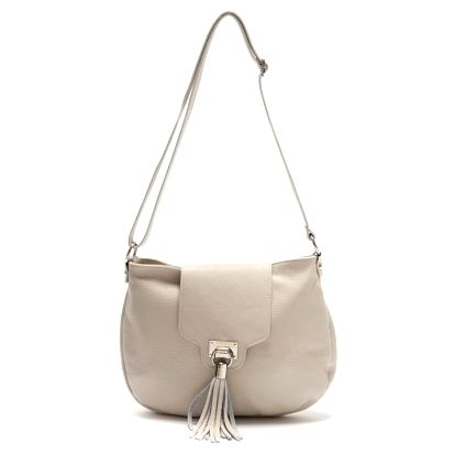Bílá kožená kabelka Isabella Rhea Laurus - doprava zdarma!
