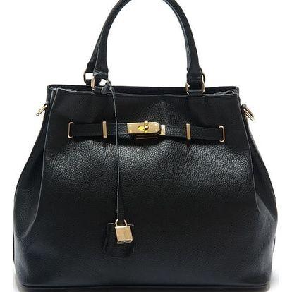 Černá kožená kabelka Isabella Rhea Azalea - doprava zdarma!