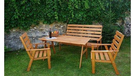 Zahradní nábytek Rojaplast Sylva + Houpačka CUBS dřevěná s ohrádkou v hodnotě 199 KčZahradní gril kulatý SportTeam 35cm