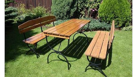 Zahradní nábytek Rojaplast BRAVO + Houpačka CUBS dřevěná s ohrádkou v hodnotě 199 KčZahradní gril kulatý SportTeam 35cm + Doprava zdarma