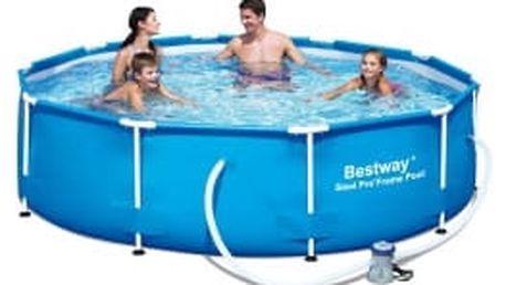 BESTWAY Rodinný bazén s konstrukcí 305 x 76 cm SADA bazén s konstrukcí s kartušovou filtrací