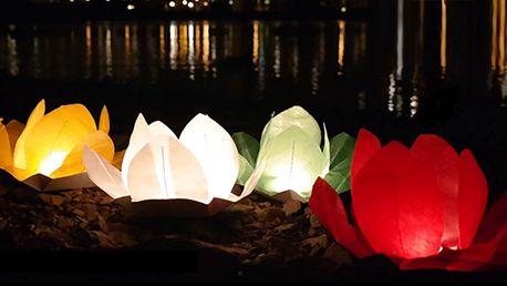 Vodní lampiony přání v sedmi barevných provedeních