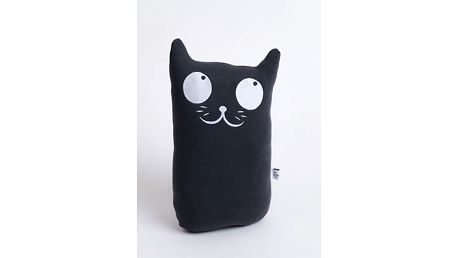 Polštář velký mačka Koto - tmavě šedá