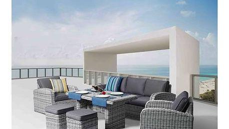 Ratanový nábytek Rojaplast OTTAWA hnědý + K nákupu poukaz v hodnotě 1 000 Kč na další nákup + Doprava zdarma