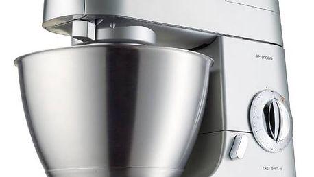 Kuchyňský robot Kenwood Chef KMC570008 stříbrný Ponorný mixér Kenwood HDP402WH Triblade (zdarma) + Doprava zdarma