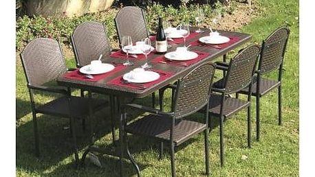 Zahradní nábytek V-Garden BARI + Houpačka CUBS dřevěná s ohrádkou v hodnotě 199 KčZahradní gril kulatý SportTeam 35cm + Doprava zdarma