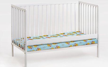 Dětská postýlka s matrací CYPI, bílá