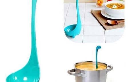 Polévková naběračka Nessie s dlouhou rukojetí. Praktický pomocník do Vaší kuchyně.