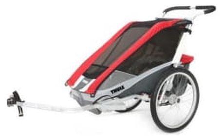 THULE Chariot Cougar-2 red dětský vozík s cyklistickým setem