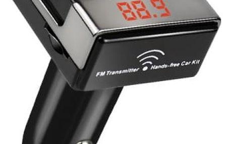 FM transmitter s handsfree a nabíječkou