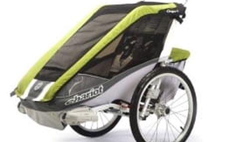 THULE Chariot Cougar-2 Avocado dětský vozík s cyklistickým setem