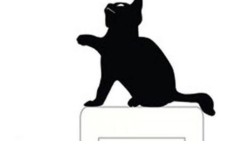 Samolepka na zeď pro ozdobu vypínače - kočička