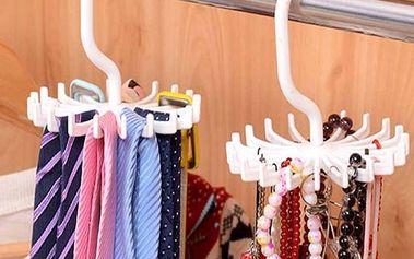 Organizér na kravaty nebo šperky - otočný - dodání do 2 dnů