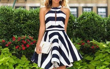 Dámské letní šaty v námořnickém stylu