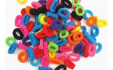 Sada 100 kusů holčičích gumiček do vlasů - dodání do 2 dnů