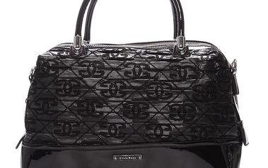 Střední kabelka černá s texturou - Silvia Rosa Dory černá