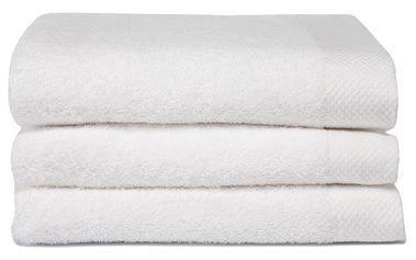 Sada 3 bílých ručníků Seahorse Pure,60x110cm