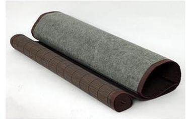 Rohož za postel bambusová TH-C022-BR2, barva tm. hnědá