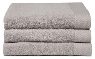 Sada 3 béžových ručníků Seahorse Pure,60x110cm