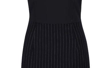 Černo-modré pouzdrové šaty s pruhovanou sukní Desigual Sara
