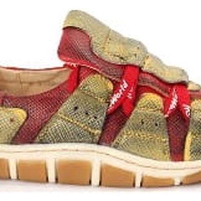 Dámská jarní obuv MODERN WORLD červeno-zelená