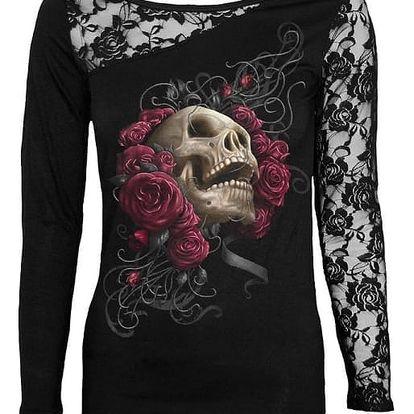 Gotické tričko s krajkovým rukávem - 8 variant