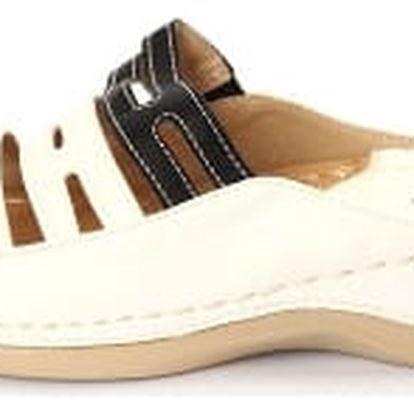 Dámské zdravotní pantofle KOKA 2 bílé