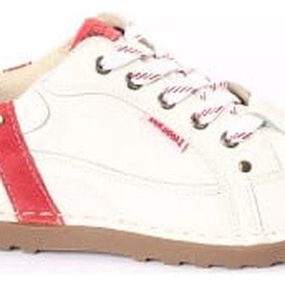 Dámské kožené boty Casual Fashion bílo-červené