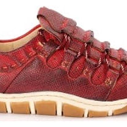 Dámská jarní obuv MODERN WORLD tmavě červená