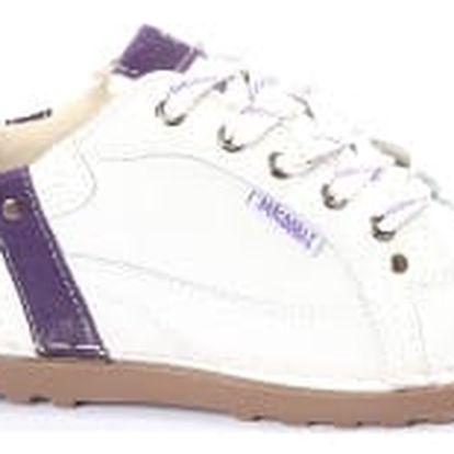 Dámské kožené boty Casual Fashion bílo-fialové