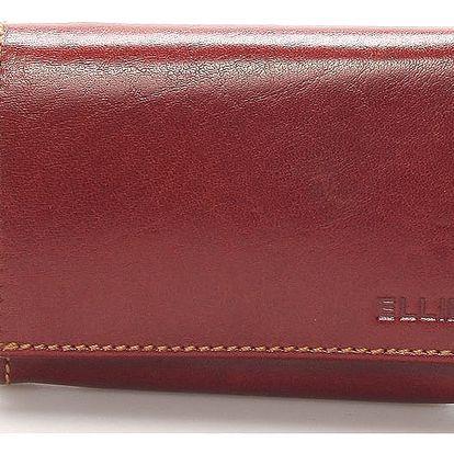 Dámská kožená peněženka koňaková - ELLINI Paige hnědá