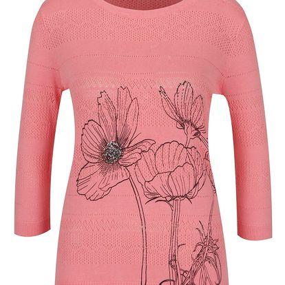 Světle růžový svetr s kavětinou Desigual Niza