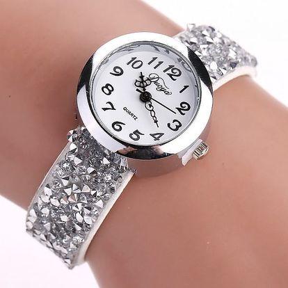 Dámské hodinky se třpytivým páskem - 6 barev