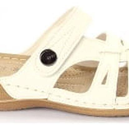 Dámské zdravotní pantofle KOKA 3 bílé