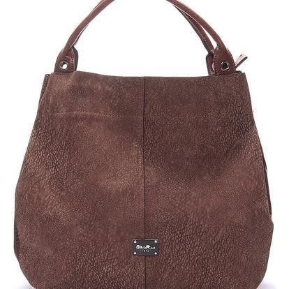 Hnědá elegantní kabelka Silvia Rosa Flora hnědá