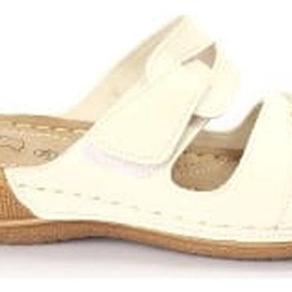 Dámské zdravotní pantofle KOKA 4 bílé