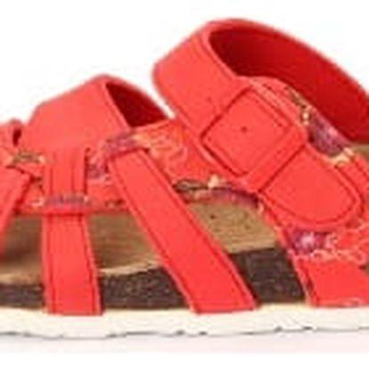 Dámské pantofle FLOWER červené