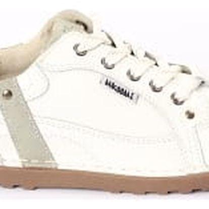 Dámské kožené boty Casual Fashion bílo-šedé