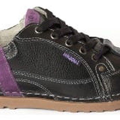 Dámské kožené boty Casual Fashion černo-fialové