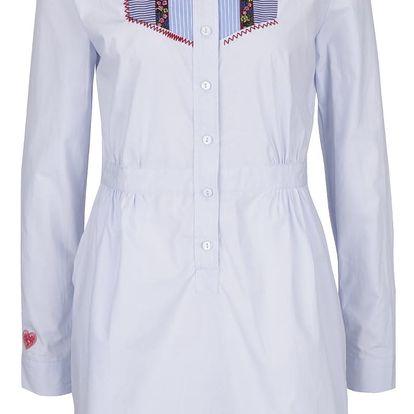 Světle modré košilové šaty Desigual Suiza