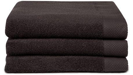 Sada 3 hnědých ručníků Seahorse Pure,60x110cm