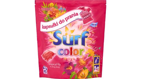 SURF Color Tropical 1183 g (45 dávek) – prací kapsle