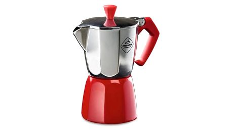 Kávovar Tescoma Paloma Colore, 3 šálky červená barva