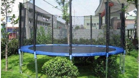 FunFit Trampolína 400 cm s ochrannou sítí + žebřík