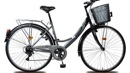 "Trekové kolo Olpran Mercury Lux 28"" stříbrné/zelené + Doprava zdarma"