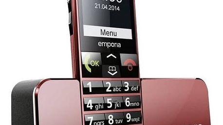 Mobilní telefon emporia ECO (TELEMECORE) červený