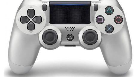Gamepad Sony Dual Shock 4 pro PS4 v2 (PS719895657) stříbrný