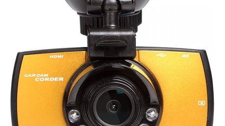 Autokamera se senzory LED pro noční vidění a LCD displejem