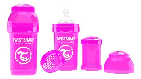 TWISTSHAKE Antikoliková láhev 180ml Růžová