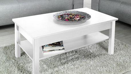 Konferenční stolek LAWA, bílá matná